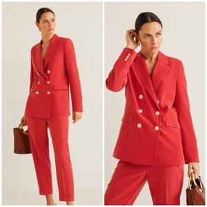 New Mango MNG Modal-blend Suit Blazer Jacket